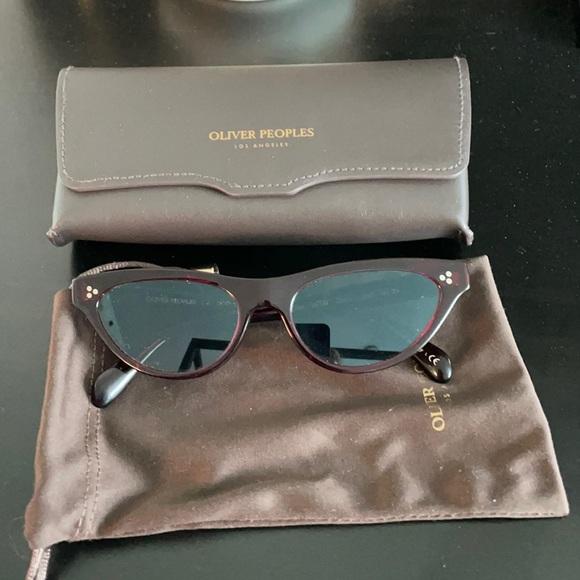 Oliver People's Zasia sunglasses burgundy. Worn 1x